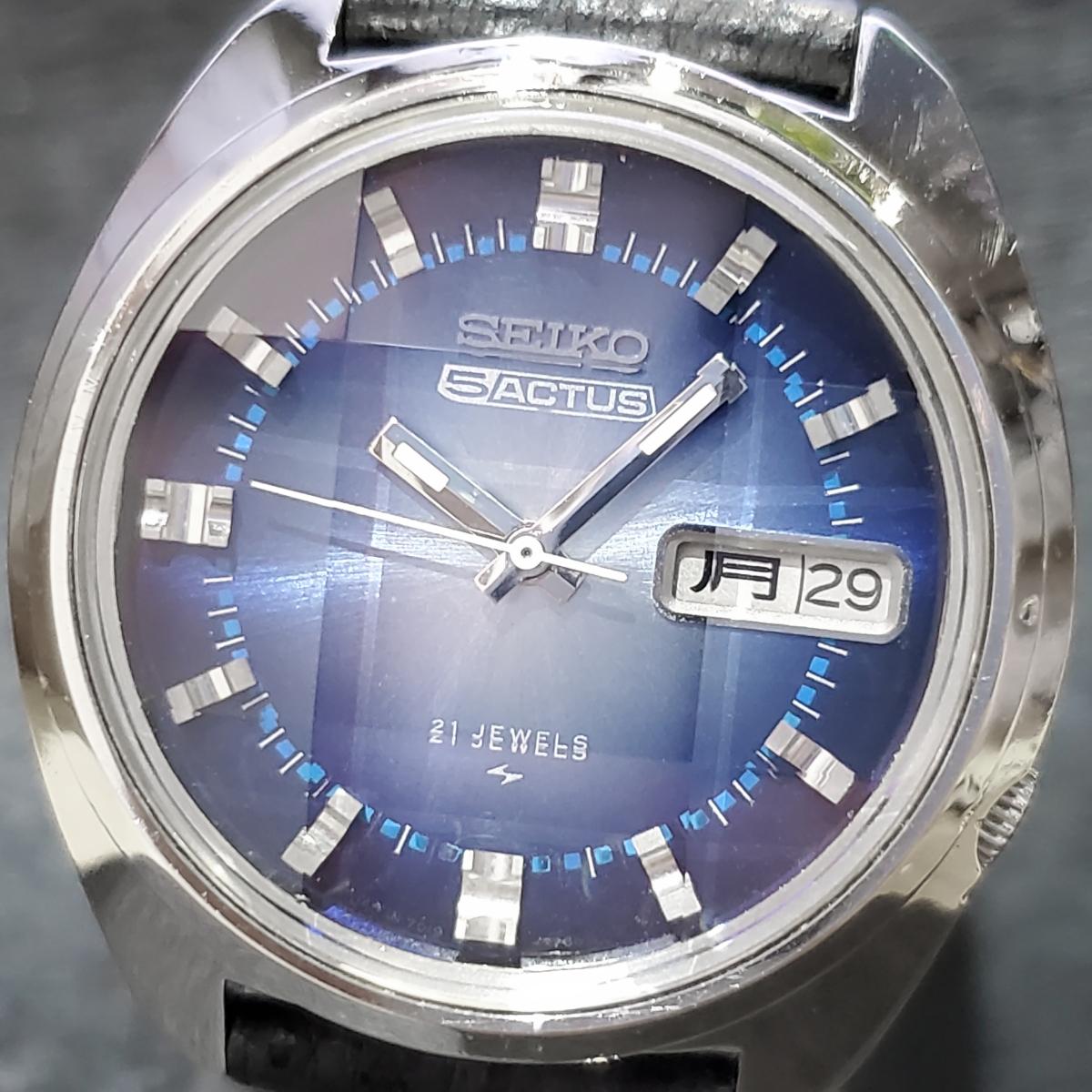 セイコー ファイブアクタス 7019-7210 新品9面カットガラス 自動巻 OH済 昭和48年/1973年製