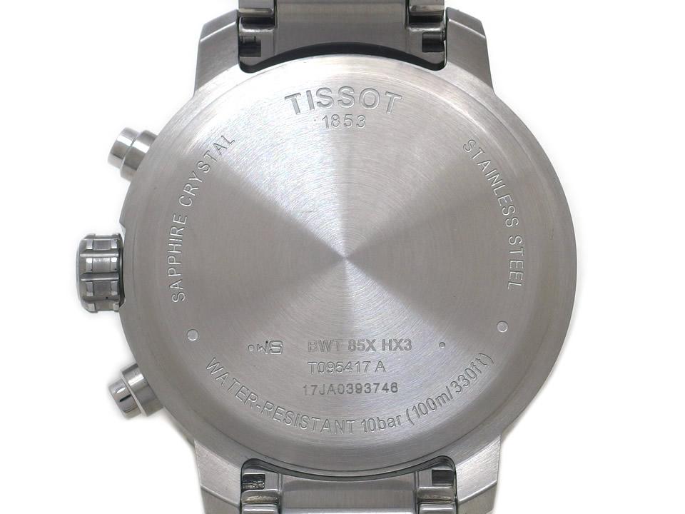 ティソ クイックスター クロノグラフ ネイビー T095417A クオーツ USED TISSOT