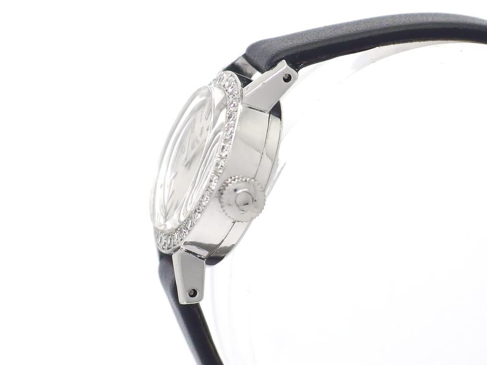 オメガ プラチナ製 20787 ダイヤベゼル 純正尾錠 Cal.244 手巻 レディース OH済 1958年製