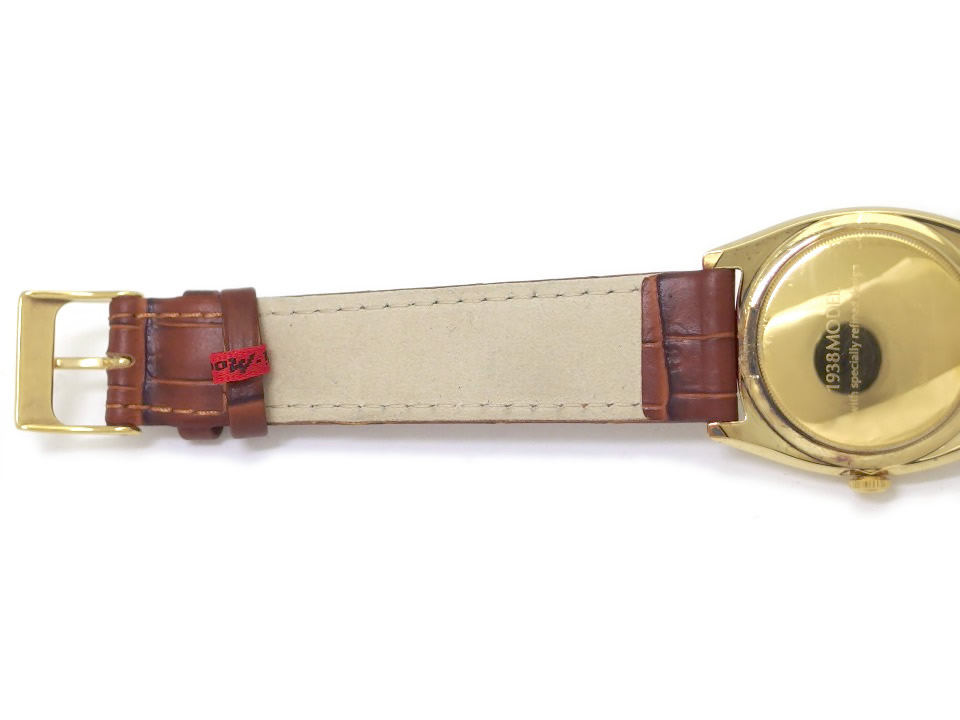 シチズン 復刻版 1938MODEL 銀無垢 シルバー925 金メッキ仕上げ クオーツ 1990年代 USED