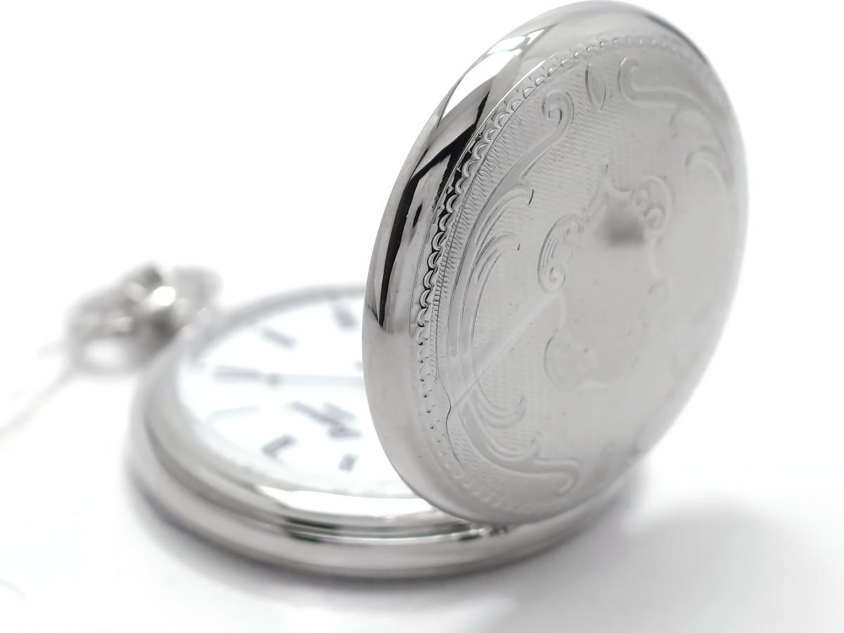 【新品】ラポート 懐中時計 PW15 ハンターケース バックスケルトン 手巻