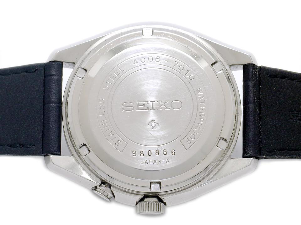 セイコー ベルマチック デイデイト 4006-7010 シルバー文字盤 自動巻 OH済 昭和44年製 Seiko