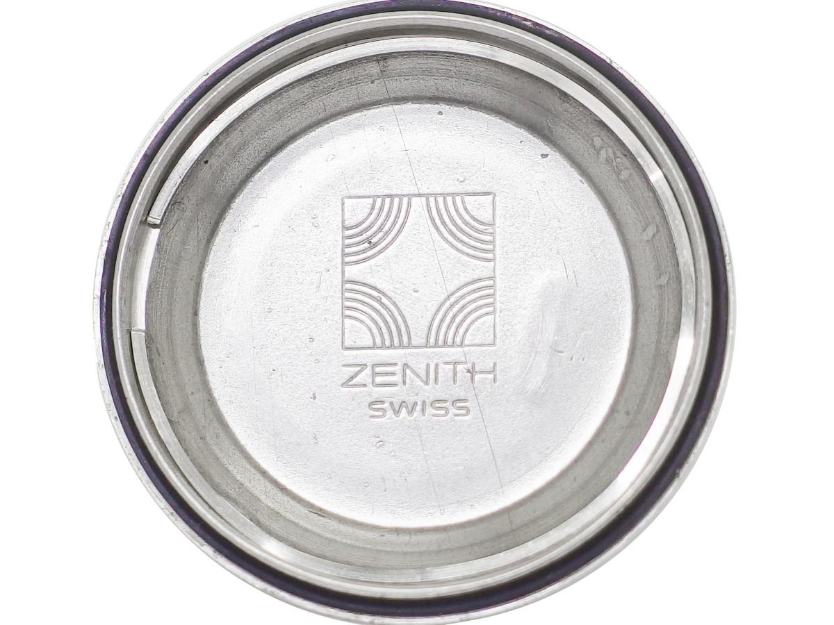 ゼニス トノー型ケース Ref.01-1291-380 ブルー文字盤 Cal.2572 PC 自動巻 OH済 1970年代