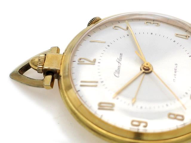 シチズン アラーム 懐中時計 6-980040-Y 17石手巻 OH済 1960年代製