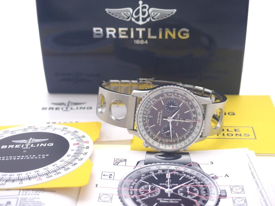 ブライトリング ナビタイマー 125周年記念モデル 世界限定2009本 A26322 ブラウン文字盤 自動巻 OH済 2009年 USED Breitling