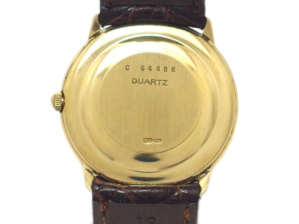 オーデマピゲ 18金無垢イエローゴールド ラウンド ローマインデックス 2針 クオーツ メンズ USED Audemars Piguet