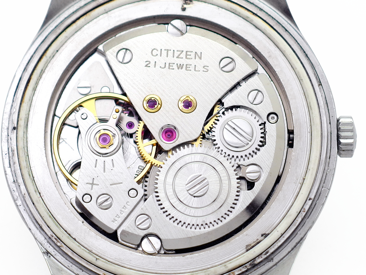シチズン ホーマー 国鉄時計 盛鉄 21石 手巻 OH済 1977年/昭和52年製 Citizen