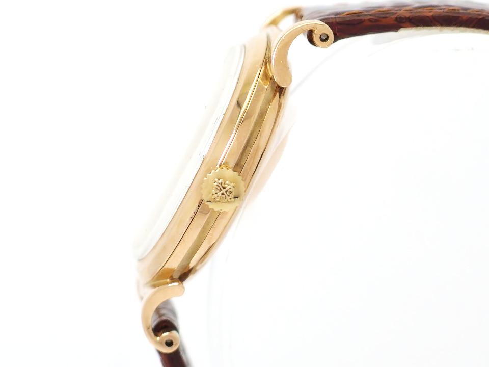 パテックフィリップ カラトラバ Ref.1491 スクロールラグ 18金無垢 ローズゴールド アーカイブ付き Cal.27SC 手巻 OH済 1951年製