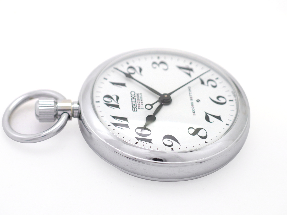 セイコー プレシジョン 懐中時計 6110-0010 Cal.6110A 21石 手巻 OH済 昭和49年/1974年製 Seiko