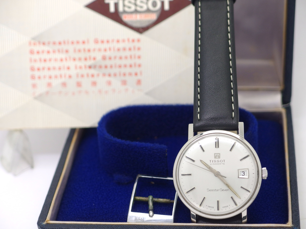 ティソ VISODATE(ヴィソデイト) Seastar Seven ワンピースケース Cal.782-1 手巻 OH済 1965年製 TISSOT