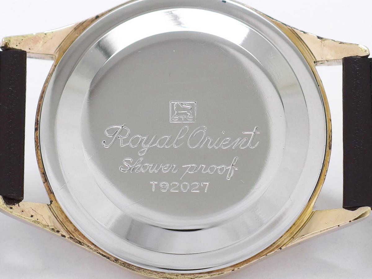 ロイヤルオリエント シャワープルーフ T92027 金メッキ/ステンレス 19石 手巻 OH済 1960年代