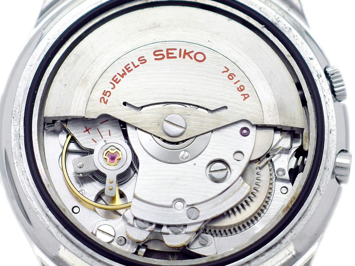 セイコー スポーツマチック ファイブ デラックス 7619-7010 ブラック文字盤 自動巻 OH済 昭和40年/1965年製 Seiko