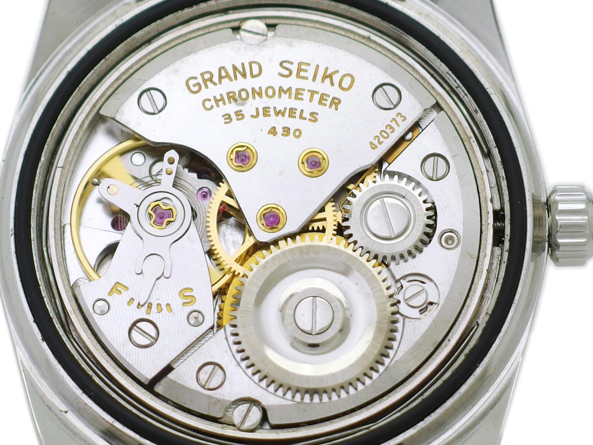 【希少】グランドセイコー セカンドモデル前期型 43999 AD文字盤 W SEIKOリューズ ライオンメダリオン Cal.430 手巻 OH済 昭和39年/1964年製 Seiko