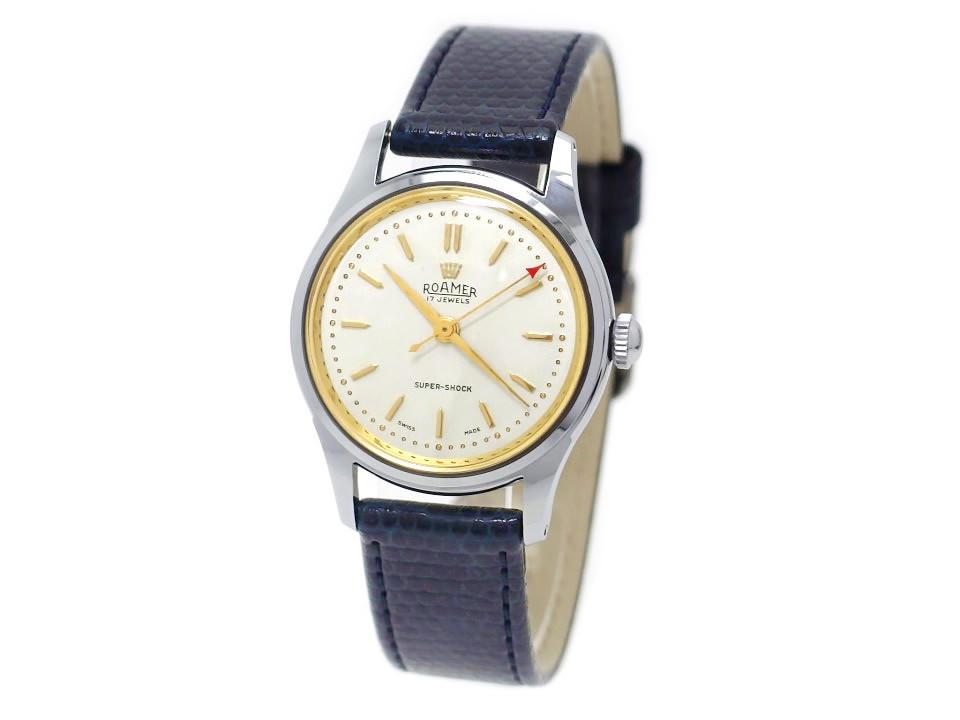 ローマー 215999 180459 スイス製 17石手巻 OH済 1960年代