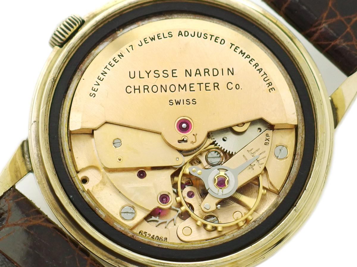 ユリスナルダン オートマチック クロノメーター 14金無垢 17石 自動巻 OH済 1950年代