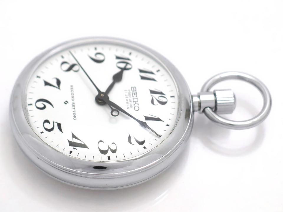 セイコー プレシジョン 懐中時計 6110-0010 Cal.6110A 21石 手巻 OH済 昭和51年/1976年製 Seiko