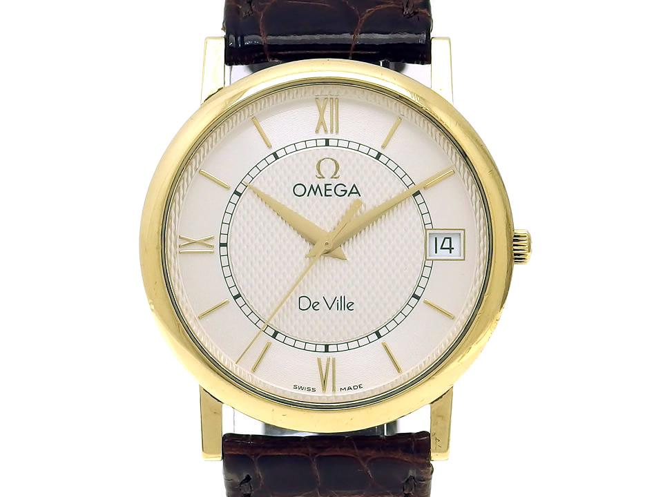 オメガ デヴィル クラシック 18K  Ref.196.2432 Cal.1532 クオーツ 1997年頃 USED Omega