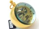 【珍品】卓上時計 カトレックス 1839.6 スケルトン 73.6mm GP 金メッキケース&球体ガラス 手巻