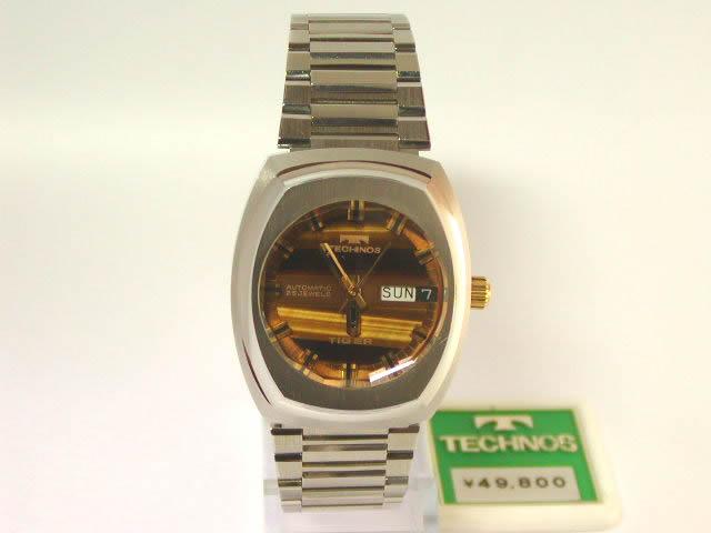 テクノス タイガー オートマティック デイデイト 自動巻 1970年代 新古品
