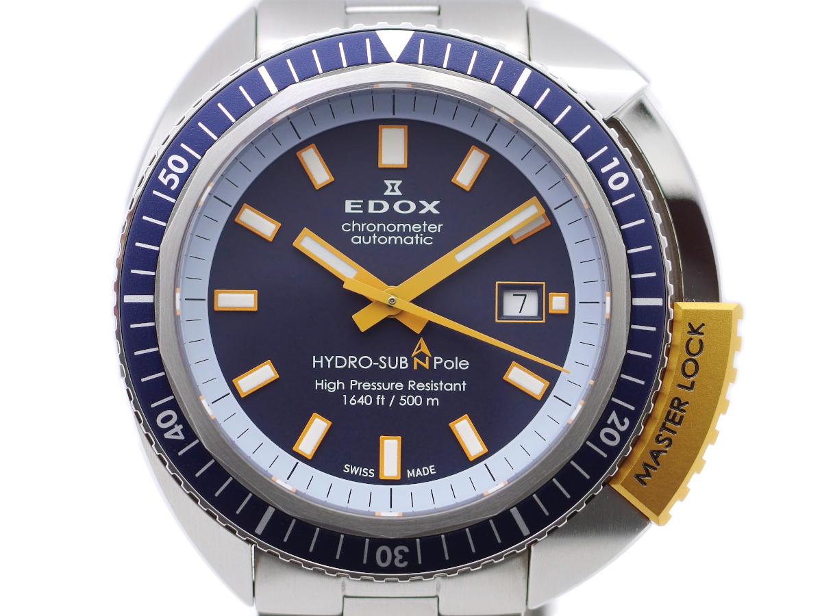 エドックス ハイドロサブ ノースポール リミテッドエディション 世界限定350本 500m防水 80201-3BUO-BU 自動巻 USED