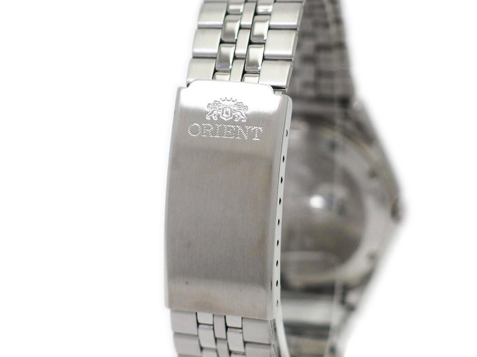 オリエント スリースター クリスタル SAB06006D8-B 青文字盤 日本製 逆輸入 自動巻 USED ORIENT