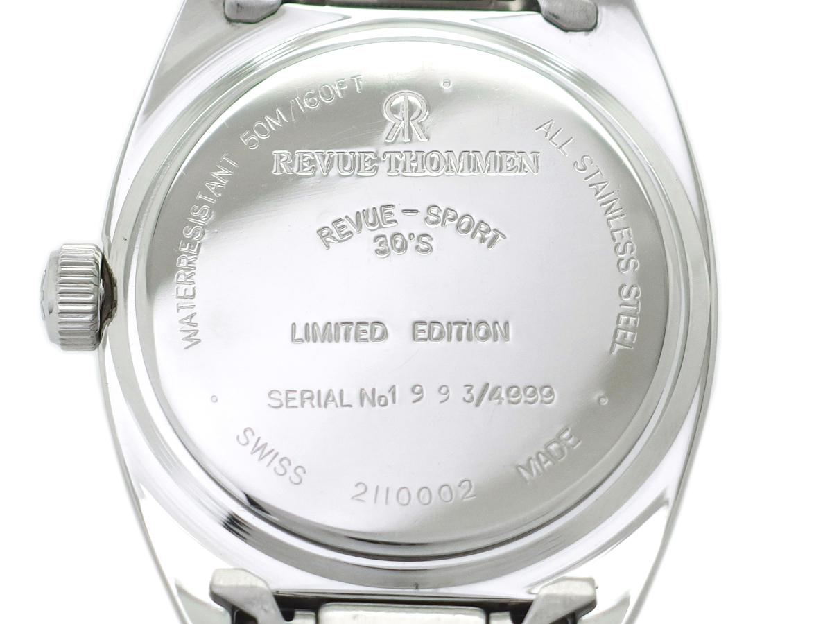 レビュートーメン レビュースポーツ30'S 復刻版 2110002 Cal.MSR K1 手巻 OH済 1998年購入 USED