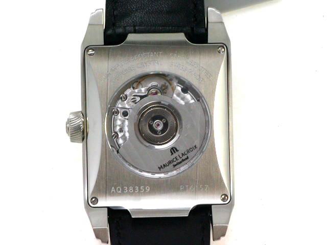 モーリスラクロア ポントス レクタンギュラー パワーリザーブ PT6157-SS001-110 自動巻 新品 Maurice Lacroix