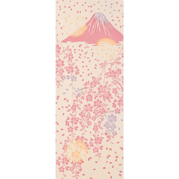 [和布華(わふか)]手ぬぐい しだれ桜と富士山 日本手拭い(てぬぐい) 春 さくら 枝垂桜 和風