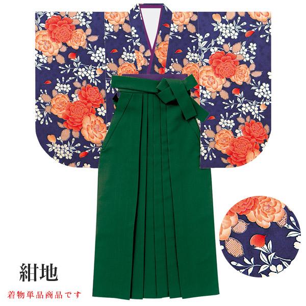 二尺袖着物 着物単品 女性用 牡丹に桜 花柄
