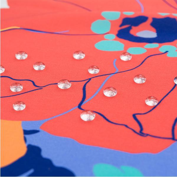 風呂敷 96cm 超撥水風呂敷 ながれ 華々 平織タイプ 96×96cm乱 日本製 水を弾く 撥水加工ふろしき 大判 大判風呂敷 防災 ギフト プレゼント