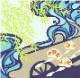 風呂敷 96cm 超撥水風呂敷 ながれ かぶき柳 ちりめんタイプ 96×96cm乱 日本製 水を弾く 撥水加工ふろしき 大判 大判風呂敷 防災 ギフト プレゼント