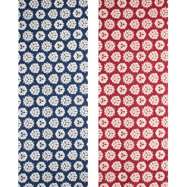 [和布華(わふか)]手ぬぐい 花キューブ 日本手拭い(てぬぐい) 小紋柄 和柄 花柄 家紋 幾何学模様