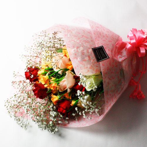 緊急★【バラ農園支援】5月下旬お届け「ばら咲く花束」【送料込】 ※5/16注文〆切