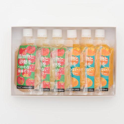 広島果実の添加物と砂糖を使わない海藻ゼリー(みかん・りんご)