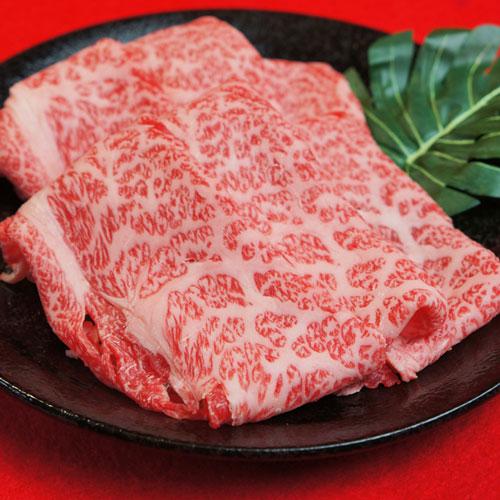 近江牛ロース、肩の【霜降り】すき焼き肉 A5・A4ランク500g(化粧箱入)