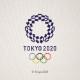 京うちわ【京都府】 うちわ(藍) 東京2020オリンピックエンブレム クロッピング