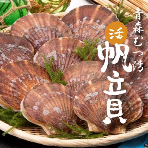 【青森県むつ湾産】新鮮で甘い、活ほたて Lサイズ2kg
