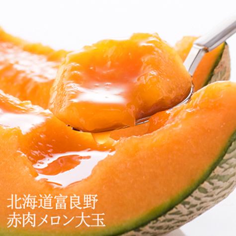 【7月10日出荷開始】北海道富良野 赤肉メロン 大玉 1玉