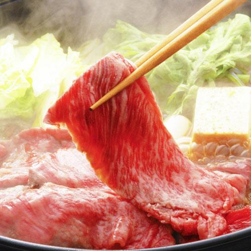 小形牧場牛すき焼き食べ比べセット/霜降り・赤身400g