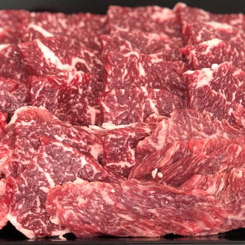 【送料無料】岡崎牧場パイン牛(黒毛和牛)焼肉用500g