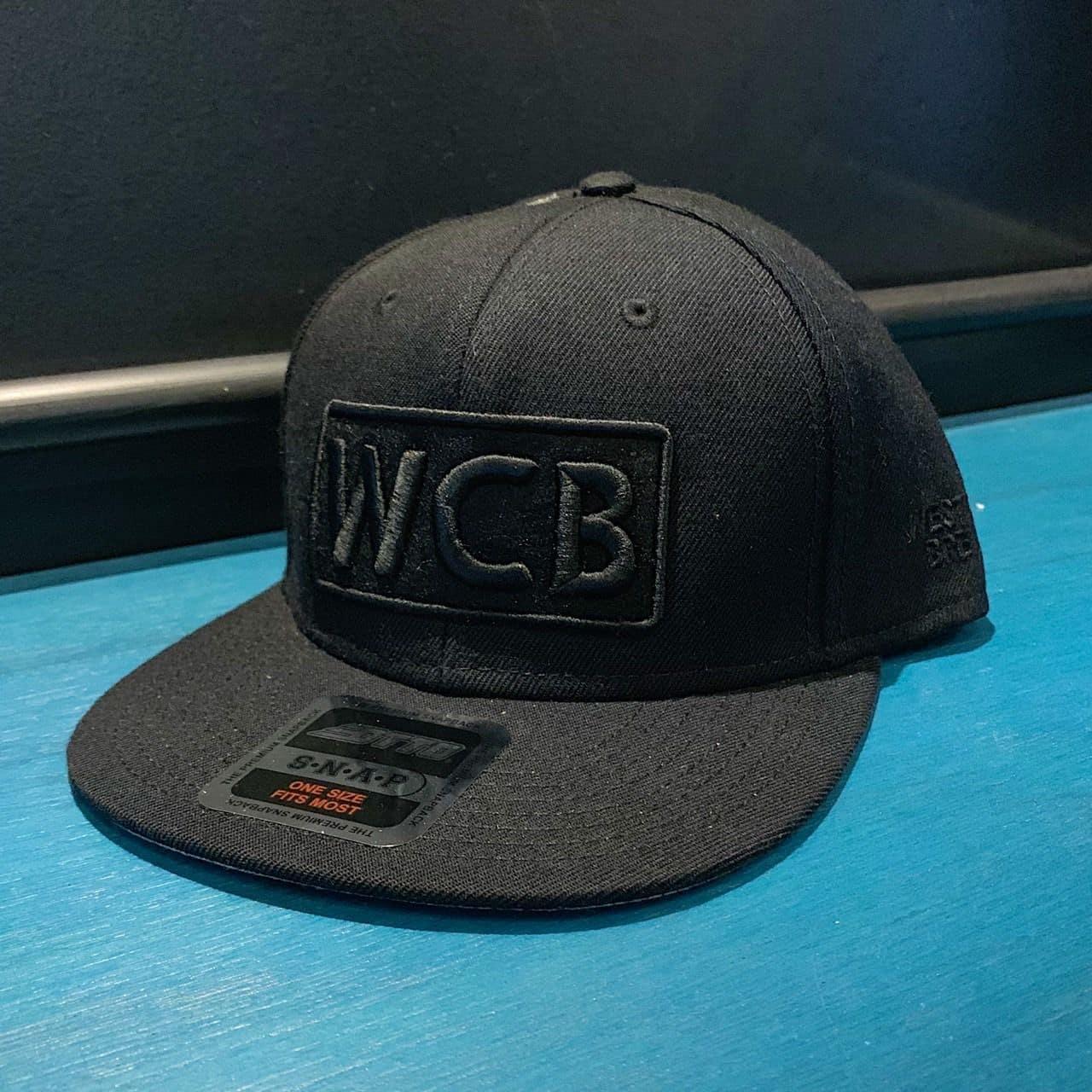 WCB Black Logo Otto Snapback Cap