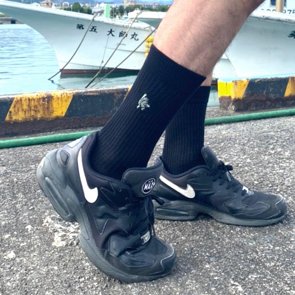 『 WCB ×UNITED ARROWS / HOP DUDE POINT SOCKS (White・Black) 』