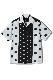 Dot Italian Collar Rayon Shirt -White-