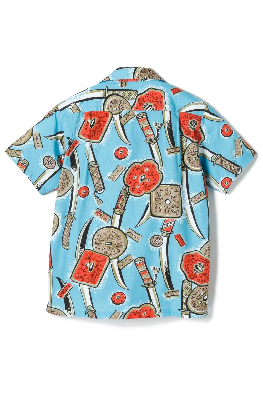 Katana Cotton Shirt -Turquoise-