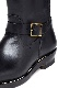 Lot.668 Engineer Boots / Horse Butt -Leather Sole- Black