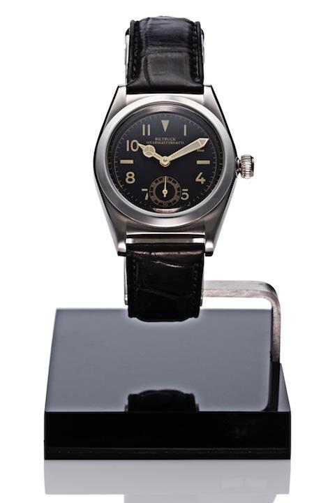 "Wristwatch ""Roundbuck"" SS Black Dial"