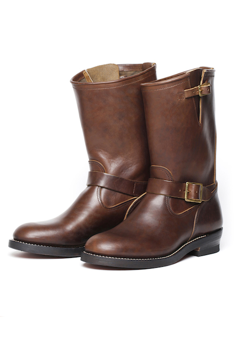 Lot.668 Engineer Boots / Horse Butt -Leather Sole- Brown