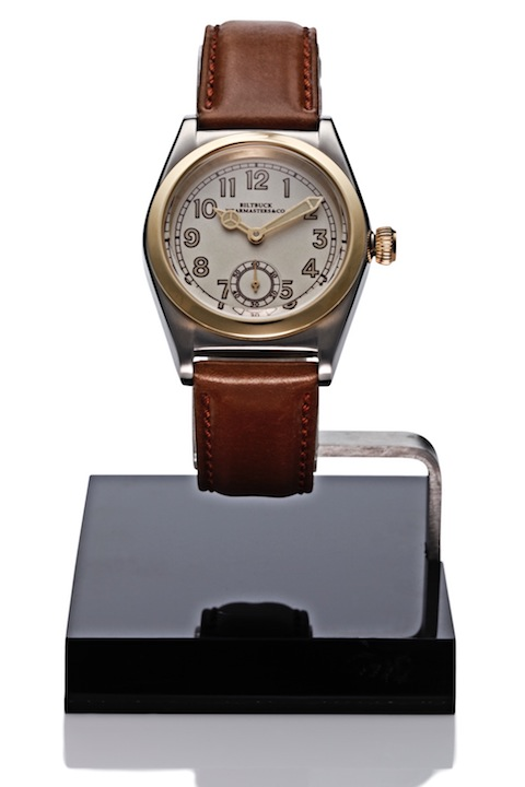 "Wristwatch ""Roundbuck"" SS Gold Dial"