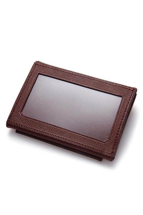 Horsehide Holding Wallet -Brown-