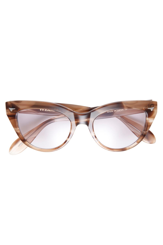 """Eyewear """"Hep Cat"""" -Brown / Smoke-"""